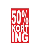 Autocollant rectangulaire 50% korting