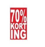 Rechthoekige 70% korting Sticker