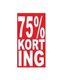 Autocollant rectangulaire 75% korting
