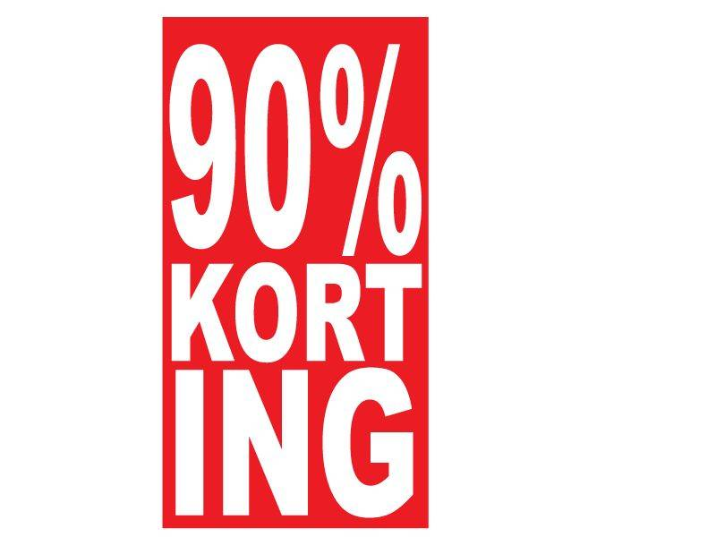 Autocollant rectangulaire 90% korting