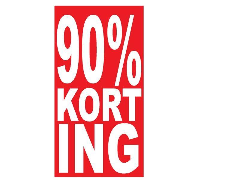 Rechthoekige 90% korting Sticker