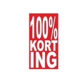 Autocollant rectangulaire 100% korting