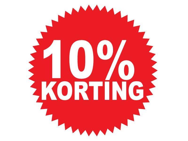 Autocollant circulaire 10% korting