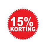 Ronde 15% korting Sticker