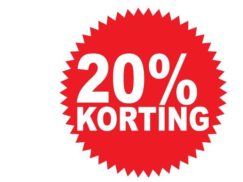 Ronde 20% korting Sticker