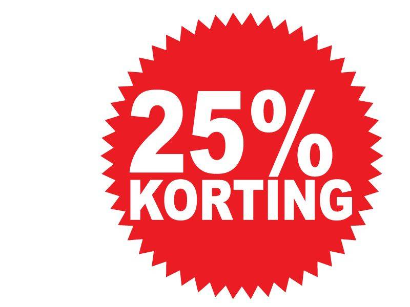 Autocollant circulaire 25% korting