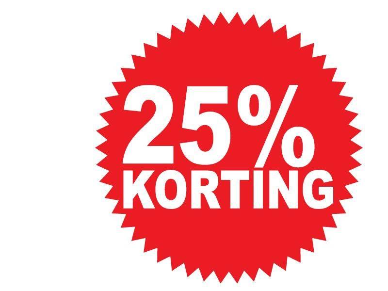 Pegatina redonda 25% descuento