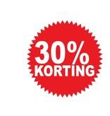 Pegatina redonda 30% descuento