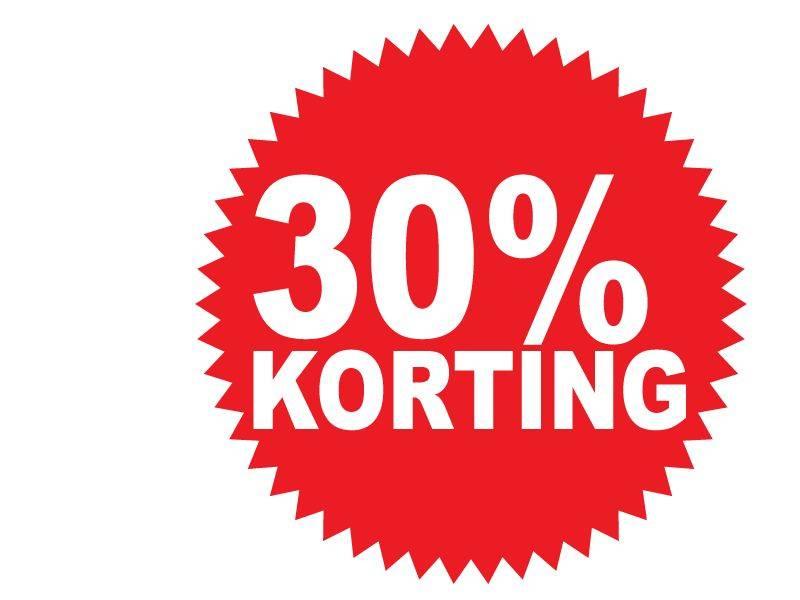 Ronde 30% korting Sticker
