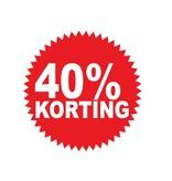 Ronde 40% korting Sticker