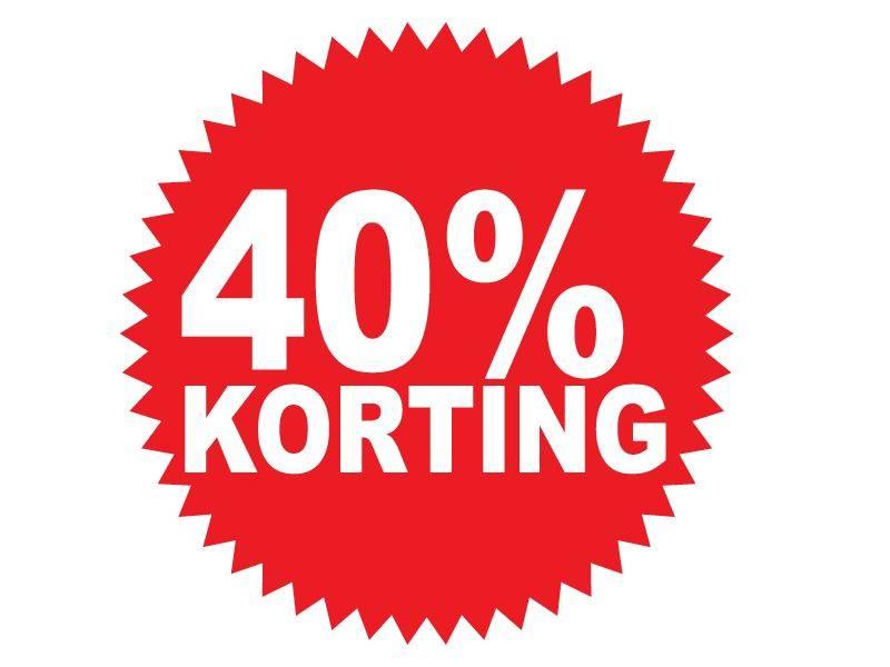 Autocollant circulaire 40% korting