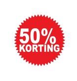 Ronde 50% korting Sticker