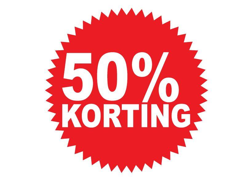 Ronde 50% korting Sticker - Dr.Sticker