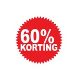Autocollant circulaire 60% korting