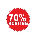 Autocollant circulaire 70% korting
