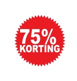 Autocollant circulaire 75% korting