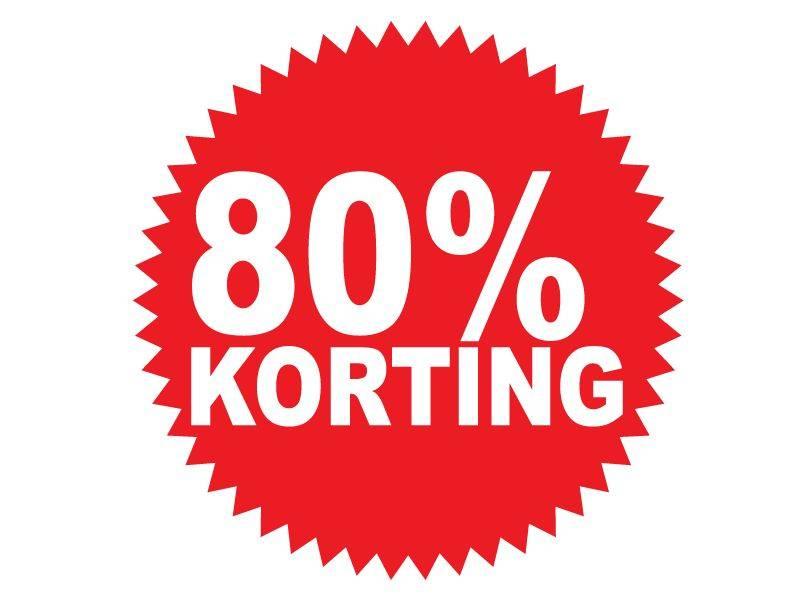 Ronde 80% korting Sticker
