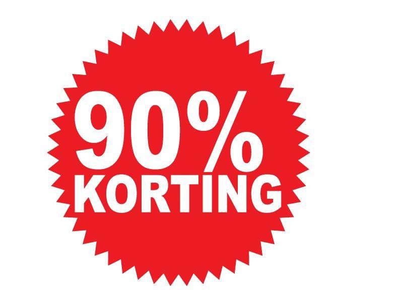 Autocollant circulaire 90% korting