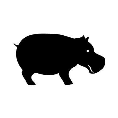 Nijlpaard Sticker