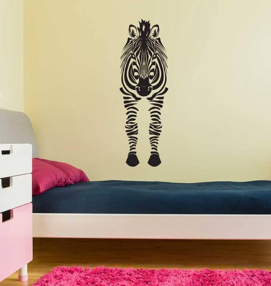Zebra voorkant Sticker