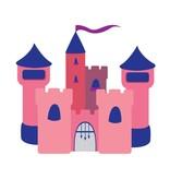 Kinderkamer Sticker - Kasteel roze