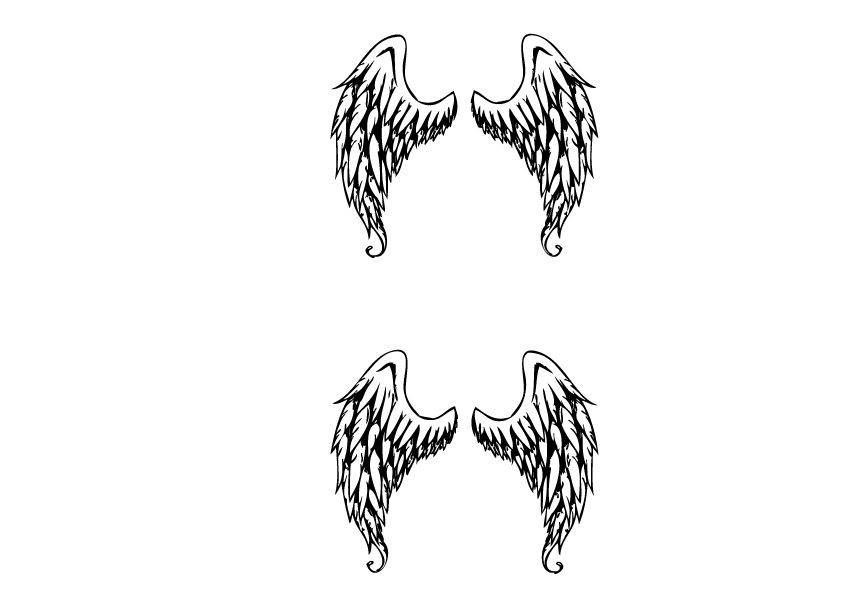 Dekoration Angel Wings Aufkleber