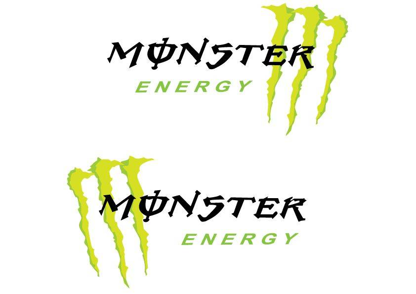 Dekoration Monster Aufkleber