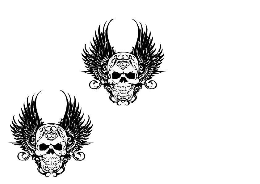 Dekoration Death Wings Aufkleber