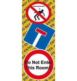 Do Not Enter Door sticker