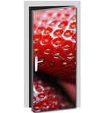Aardbei deursticker