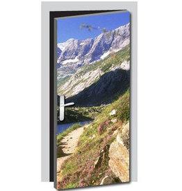 Mountains door sticker