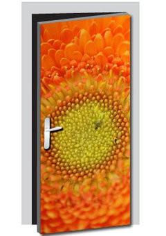 Blume Tür Aufkleber