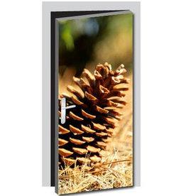 Pine Cone Door sticker