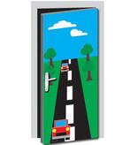 Autobahn Tür Aufkleber
