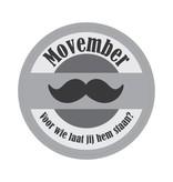 Movember Stamp Sticker