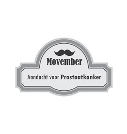 Aandacht voor prostaatkanker Sticker