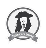 Beroemde snorren Captain Sparrow Sticker