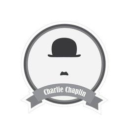 Beroemde snorren Chaplin Sticker