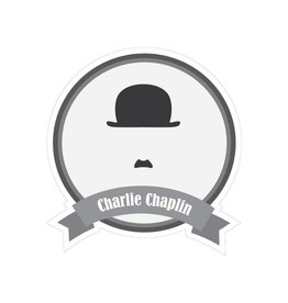 Famous moustaches Chaplin Sticker