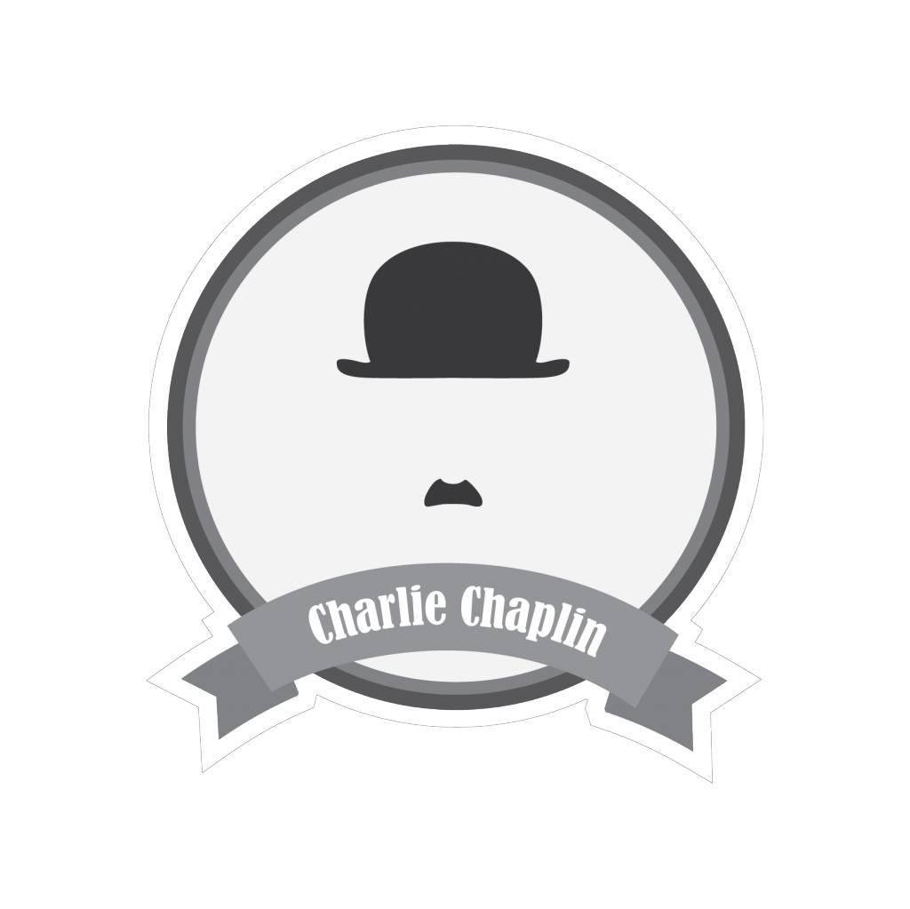 Berühmter Schnurrbart Chaplin Sticker