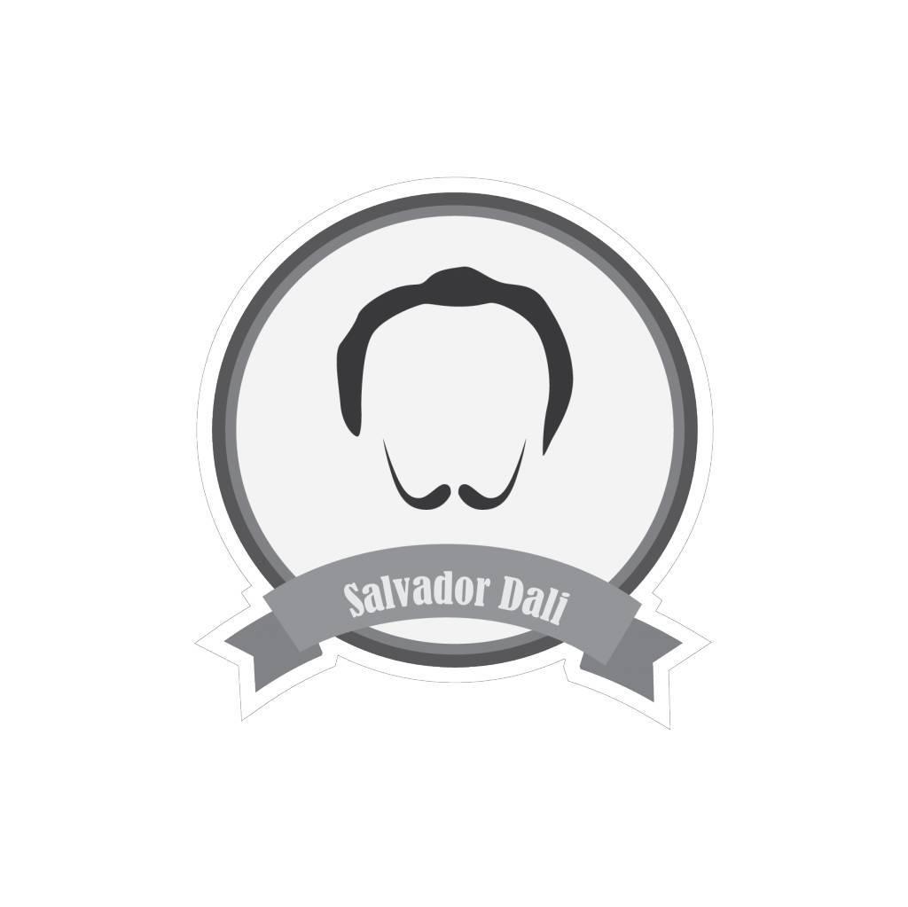 Berühmter Schnurrbart Dali Sticker