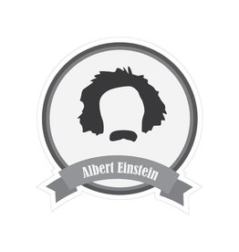 Beroemde snorren Einstein Sticker