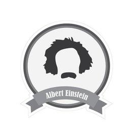 Berühmter Schnurrbart Einstein Sticker