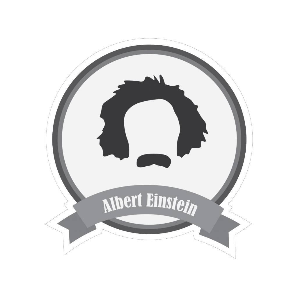 Beroemde snorren Einstein Sticker