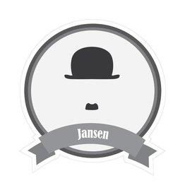 Beroemde snorren Jansen Sticker