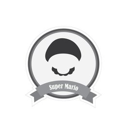Famous moustaches Mario Sticker