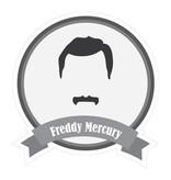 Berühmter Schnurrbart Mercury Sticker