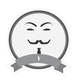 Berühmter Schnurrbart V Sticker