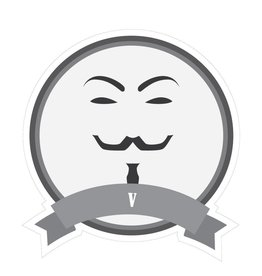 Famous moustaches V Sticker