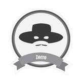 Beroemde snorren Zorro sticker